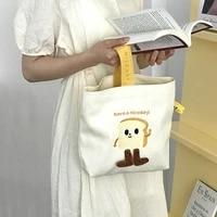 cartoon embroidery womens bento purse handbags cute cheese ladies canvas small shoulder bags female mini tote pouch shopper bag