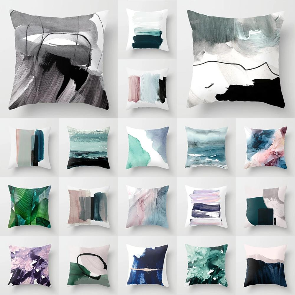 Фото - Pillow Cushion Cover Abstract Multicolor Creative 45x45cm Home Office Sofa Room Polyester Pillowcase Decorative Pillowcase van gogh oil painting series decorative pillowcase gauguin chair vase bouquet forget me not print sofa cushion cover 45x45cm