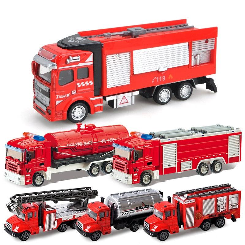 Pistola de Agua pulverizada, camión de bomberos, Juguetes de bomberos, camión de bomberos Sam, vehículos de bomberos, luz musical para coche, Juguetes educativos para niños