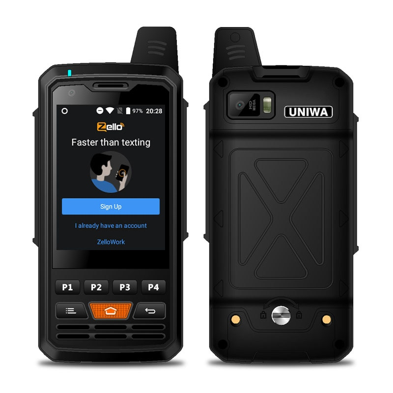 Walkie talkie F50 2G 3G 4G Zello Walkie Talkie Android Smartphone Quad Core Cellphones MTK6735 1GB+8GB ROM Signal Booster enlarge