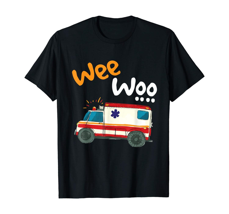 Wee Woo ambulancia Amr divertido Ems Emt regalo novedad camiseta