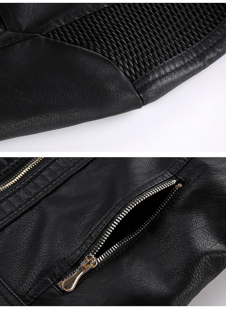 2020 European and American Women's Fashion Plush Coat Detachable Hood   Leather  Artificial Fur Street Style enlarge