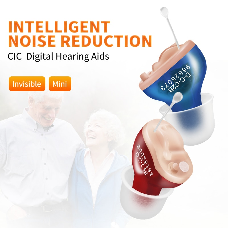 T27 Mini CIC Hearing Aids Invisible Sound Amplifier For Deafness Elderly Adjustable Micro Wireless Ear Care Aids Portable Device