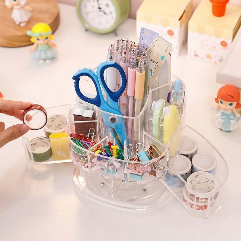 Acrylic Makeup Organizer Lipstick Holder Cosmetic Storage Box Drawer Home Office Multifunction Stationery Organizer  - buy with discount