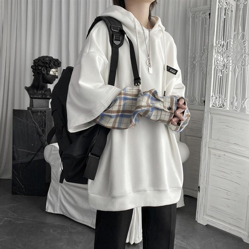 Имитация двух частей толстовки женские корейские модные ретро свободные модные куртки в леопаргическом стиле женские весенние повседневн...