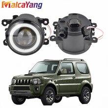 2 unidades por par (izquierda + derecha), luces antiniebla de ojo de Ángel para Estilismo de coche, luces LED para Suzuki Jimny FJ vehículo todoterreno cerrado 1998-2014