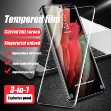 Tempered Glass For Samsung Galaxy S20 S21 Plus Ultra Screen Protector S10 Plus Film Case S8 S9 Note