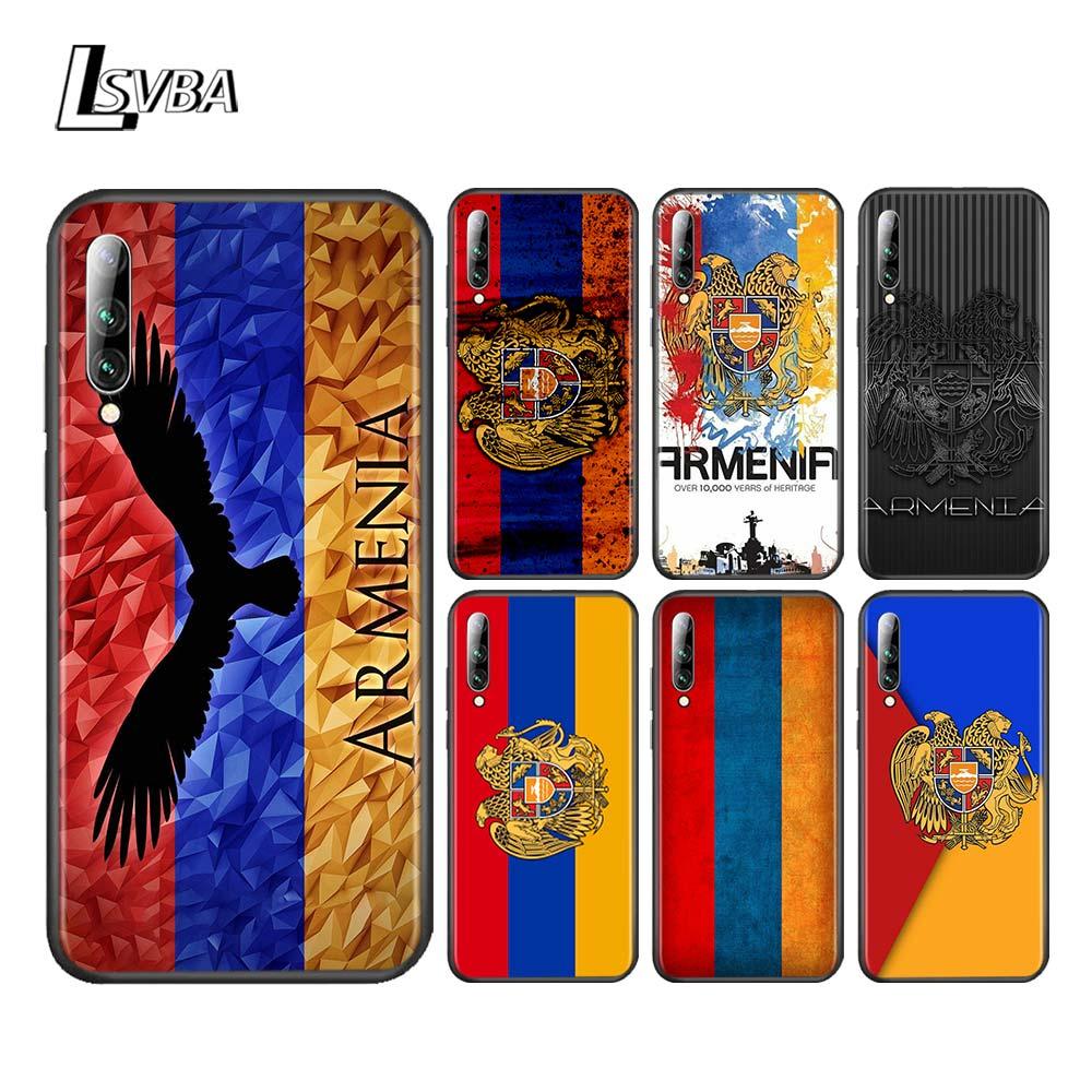 Silicone souple noir couverture drapeau arménien pour Samsung Galaxy A90 A80 A70S A60 A50S A40 A30 A20E A20 A10S coque de téléphone