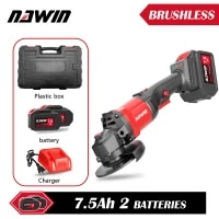 nawin cordless angle grinder 20v lithium ion battery machine cutting electric angle grinder power tool 125mm