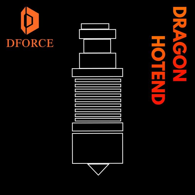 رأس بثق طابعة ثلاثية الأبعاد فائق الدقة Dforce Dragon Hotend V2.0 لـ V6 Hotend لـ TITAN BMG محرك مباشر من Bowden