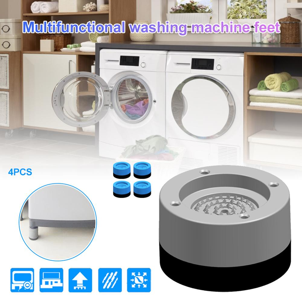 4pcs/set Washing Machine Feet Non-slip Mats Refrigerator Anti-vibration Pad Kitchen Bathroom Mat Home Protects Pad