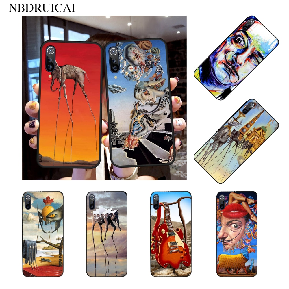 NBDRUICAI Salvador Dali arte DIY pintado Bling funda de teléfono para Xiaomi Mi9 9SE 8SE teléfono móvil F1 Mi8 Lite