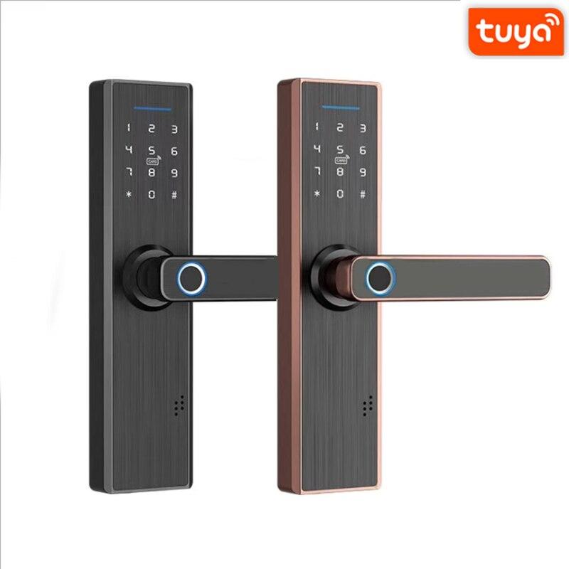 Promo WiFi Fingerprint Lock Smart Door Lock Digital Door Lock Security Electronic Password  Unlock,Home Lock