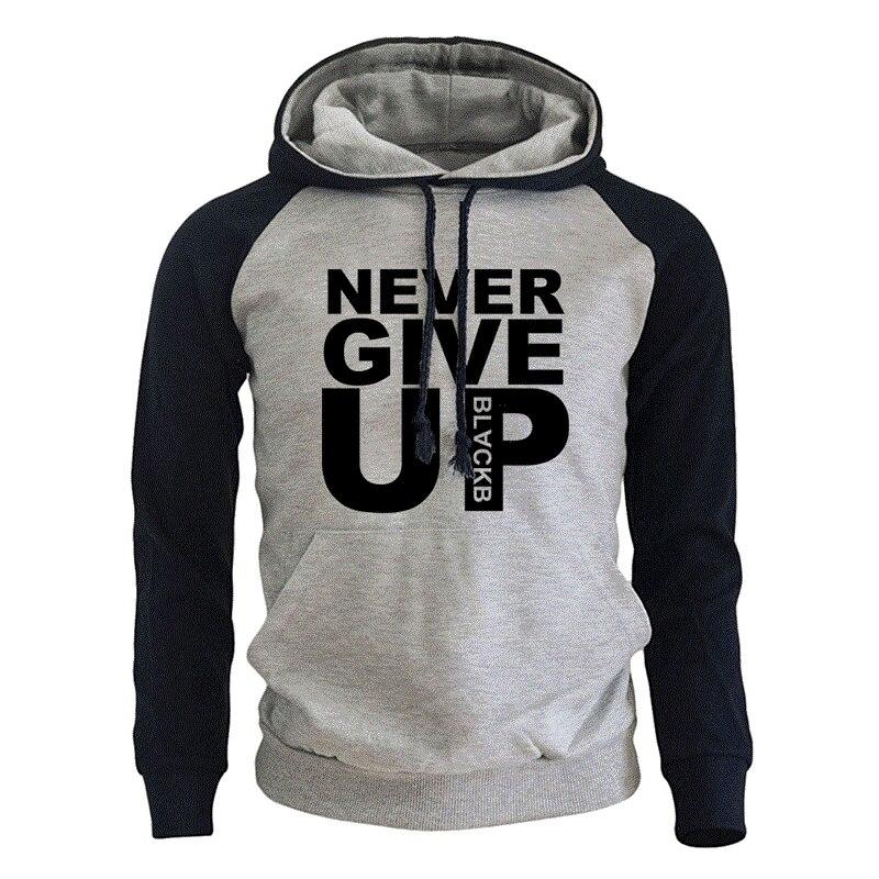 Sudadera para hombre con estampado de letras de Never Give Up de Mohamed Salah, Sudadera con capucha de moda para hombre, Sudadera con capucha de lana para Otoño e Invierno para hombre