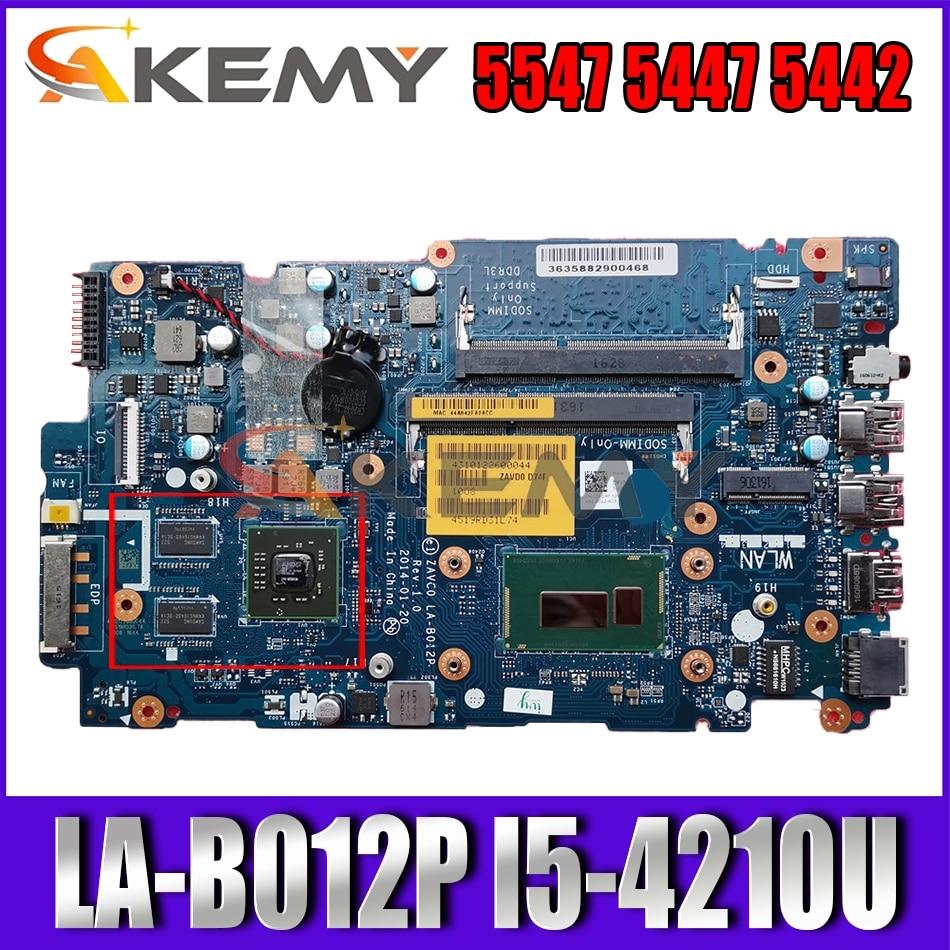 Akemy LA-B012P I5-4210U لديل انسبايرون 5547 5447 5442 اللوحة المحمول CN-056DXP 56DXP اللوحة 100% اختبار