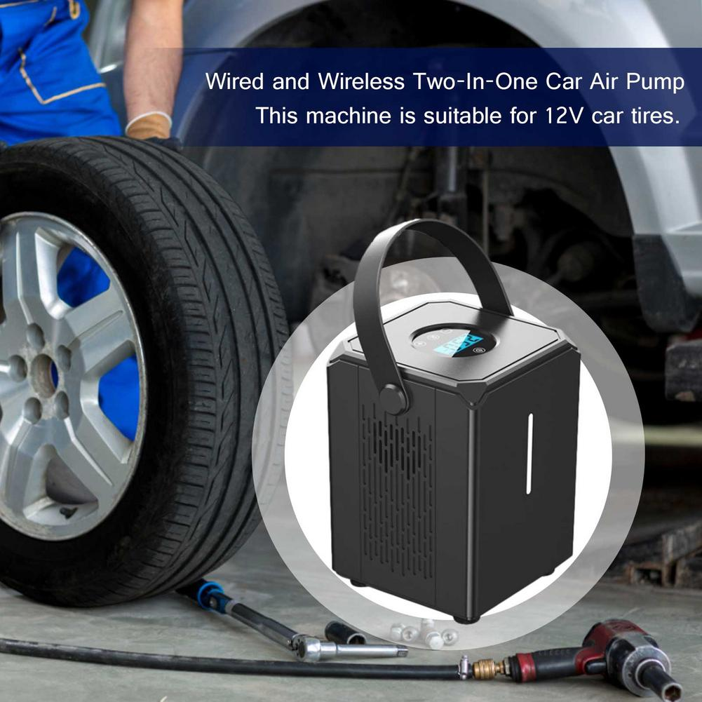 Фото - 12V Portable Car Air Compressor Electric Wireless Tire Inflator Air Pump Rechargeable Digital Auto For Car Motorcycle Balls Hot portable car tyre inflator dc 12v digital tire inflator 150 psi auto air pump for car motorcycle led light tire air compressor