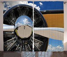 Avião cortinas hélice e motor de avião nuvens vôo histórico pássaro transporte tema sala de estar cama