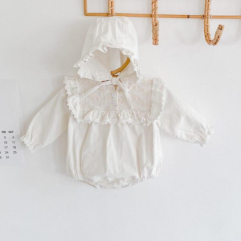 5046 do bebê macacão de renda bordado bebê recém-nascido roupas da menina 0-24m bebê uma peça roupa princesa macacão infantil