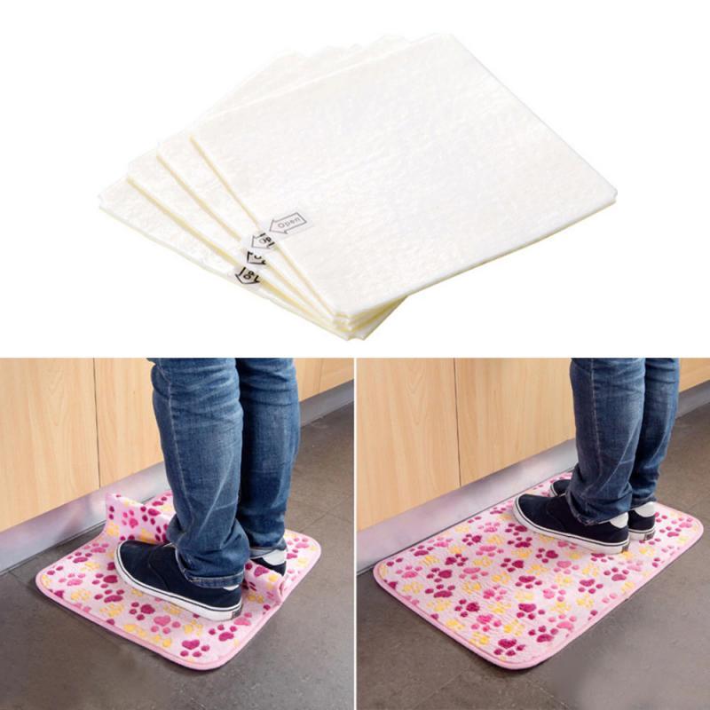4Pcs Fixed Carpet Bath Mats Super Viscous Dual-Sided Adhesive Anti-Slip Non-Woven Tape Easy To Remove Bathroom Accessories