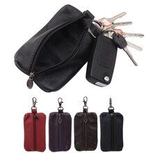 Car Key Case Leather Men Women Wallets Key Holder Housekeeper Covers Zipper Bag Keychain Cover For K