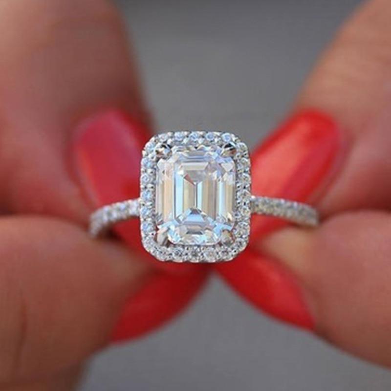 Exquisito anillo de compromiso Color oro rosa ovalado Cz zirconia cristal boda banda Art decó mujeres nupcial promesa anillos joyería