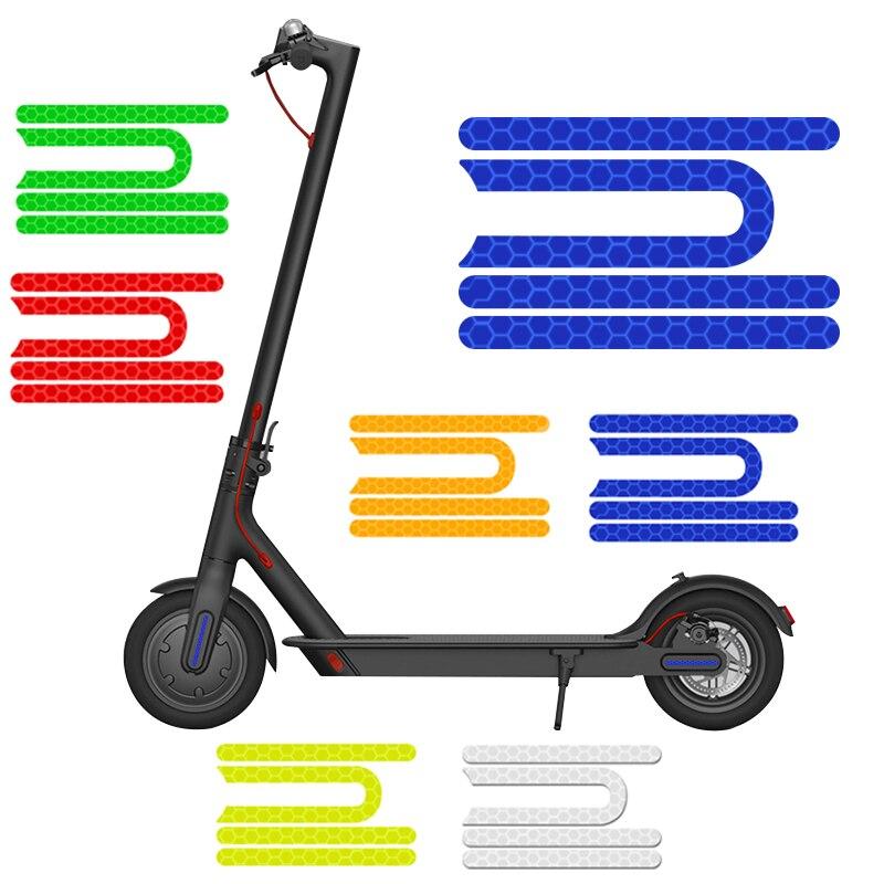 Para xiaomi mijia m365 scooter elétrico reflexivo adesivos anti-cursor compartilhamento acessórios noite tiras de aviso de segurança