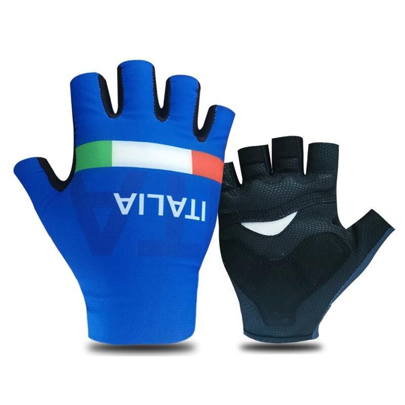 Guantes de Ciclismo de equipo profesional, transpirables, medio dedo, para deportes al...