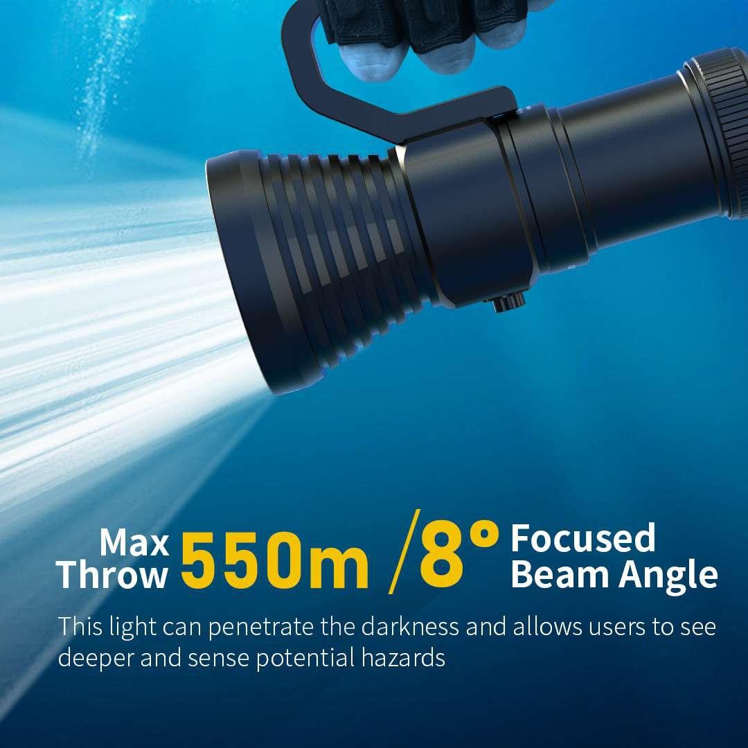 XTAR IPX8 Waterproof Diving Flashlight D28 3600 Super Bright Led Scuba Diver Light Beam Torch Lamp Lanterna Flashlight 18650