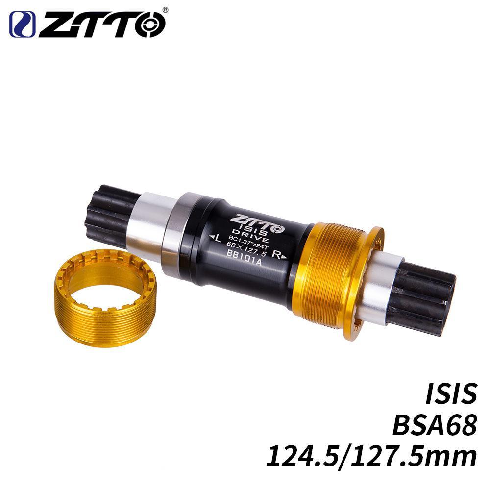 Bottom Bracket On For BMX MTB Road Bike ISIS Bottom Bracket BSA68 Bike Trial Steel Axle BB101A Spindle 124.5mm 127.5mm