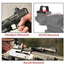 Collimateur viseur Mini RMR point rouge portée de visée Reflex portée de visée avec Glock monture universelle Airsoft fusil de chasse vue optique