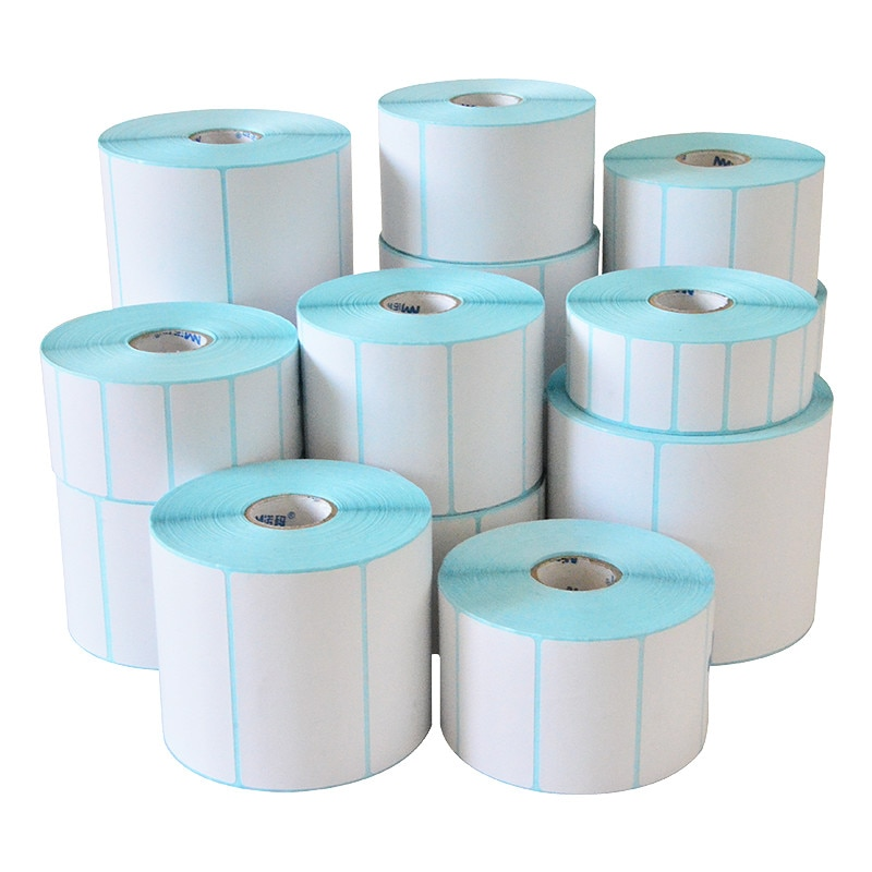 Thermal Label Sticker Paper Supermarket Price Blank Barcode Label Direct Print Waterproof Print Supplies 800pcs/Roll Adhesive