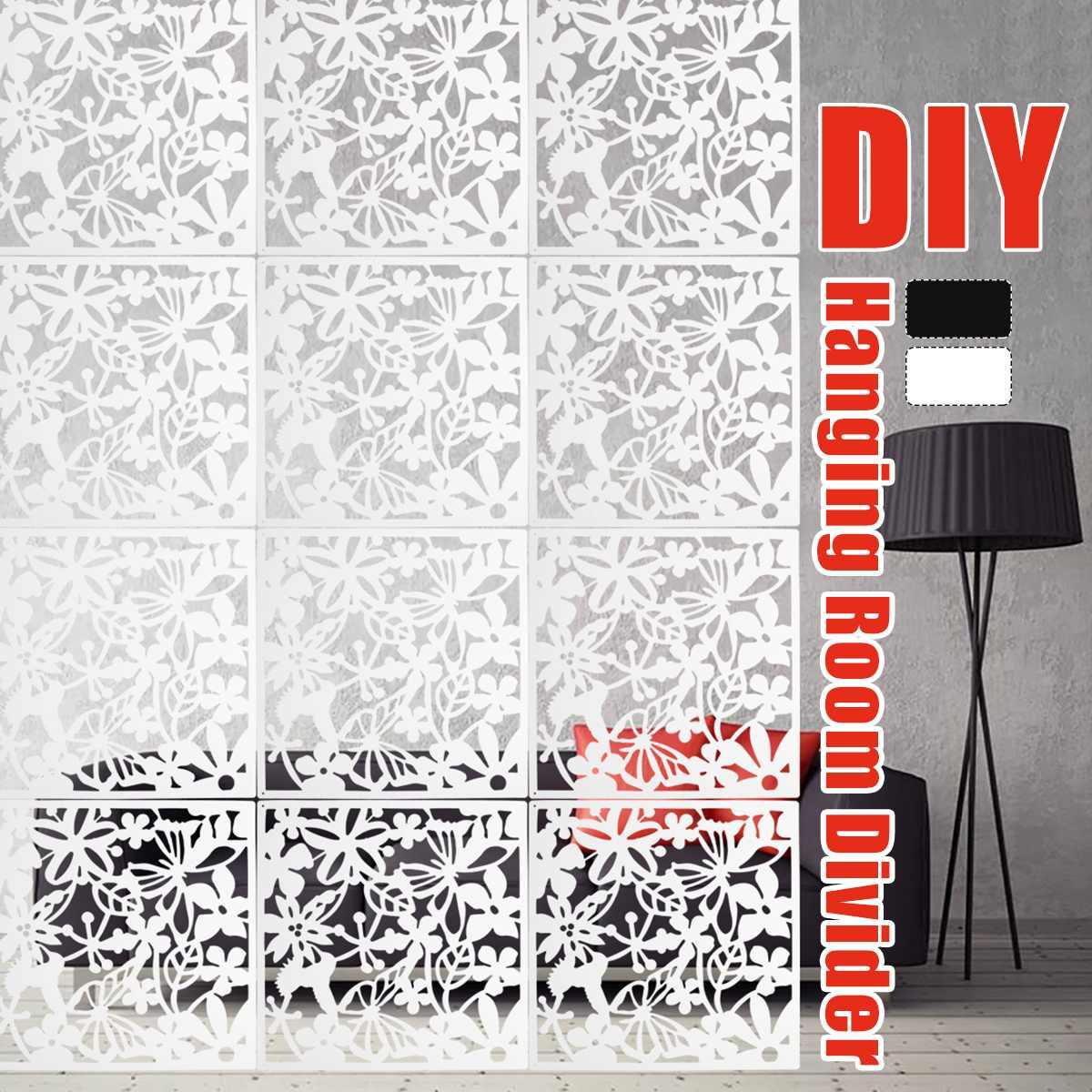 Panneau de séparation pour rideau de chambre, 12 pièces, motif papillon, oiseau, fleur, écran suspendu, blanc/noir/rouge