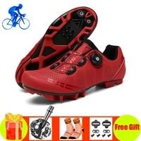 cycling shoes men outdoor sports sapatilha ciclismo self locking mountain bike sneakers racing women bicycle shoe flat mtb shoes