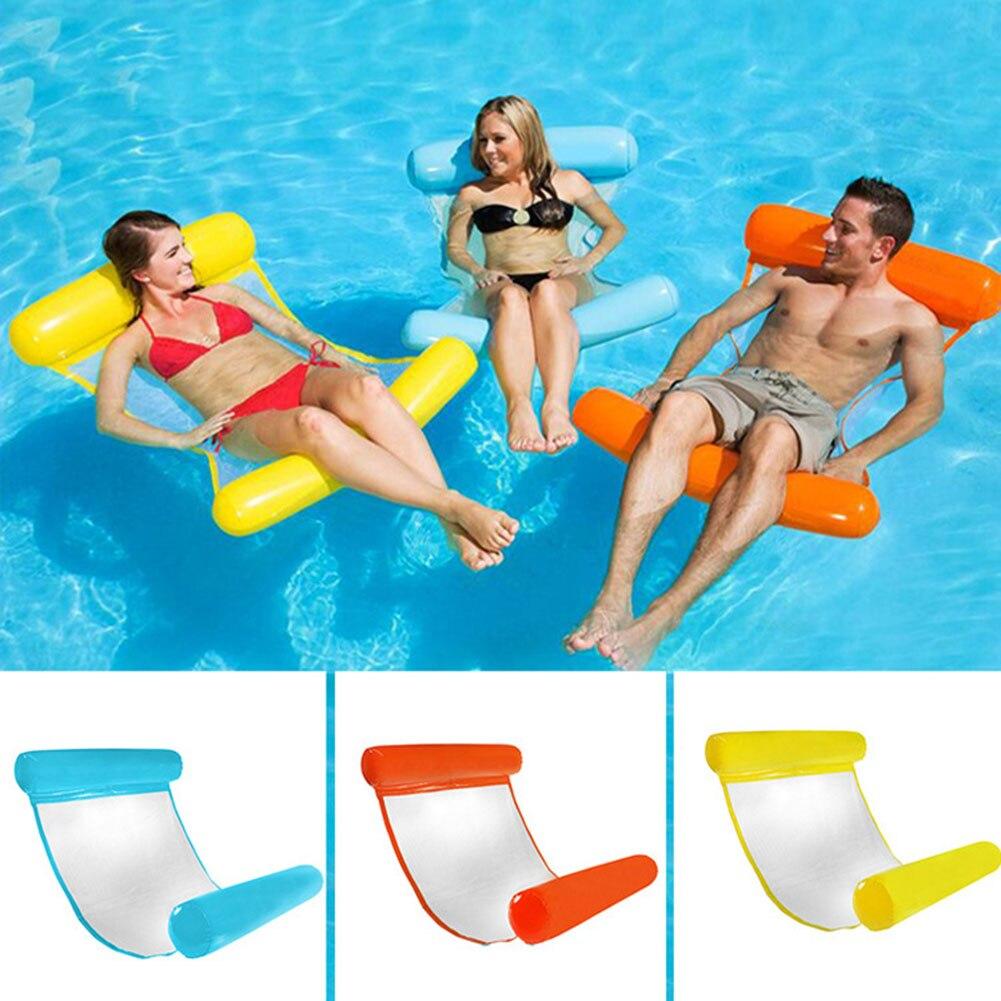 Hamaca de agua inflable Spot, cama flotante, silla de salón, flotador de piscina para adulto vj-drop