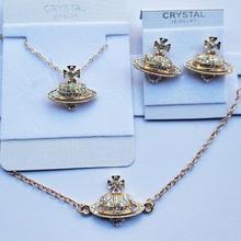 Classique croix coeur anneau AAAA + strass bracelet mode bijoux ensemble collier boucle doreille livraison directe gratuite amant cadeau qualité