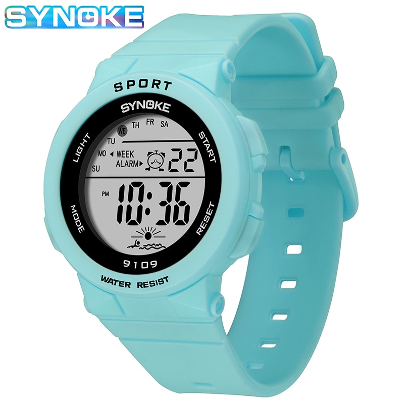SYNOKE Top Brand Watch For Kids Girls Waterproof Children Watch Outdoor Digital Sports Watches Boys LED Alarm Electronic Clock