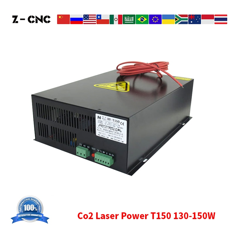 Z-CNC Co2 Laser Power Supply T150 AC110V AC220V Laserpwr for Co2 Laser 130 140 150W Black Laser PSU HY Co2 Power Replace MYJG150