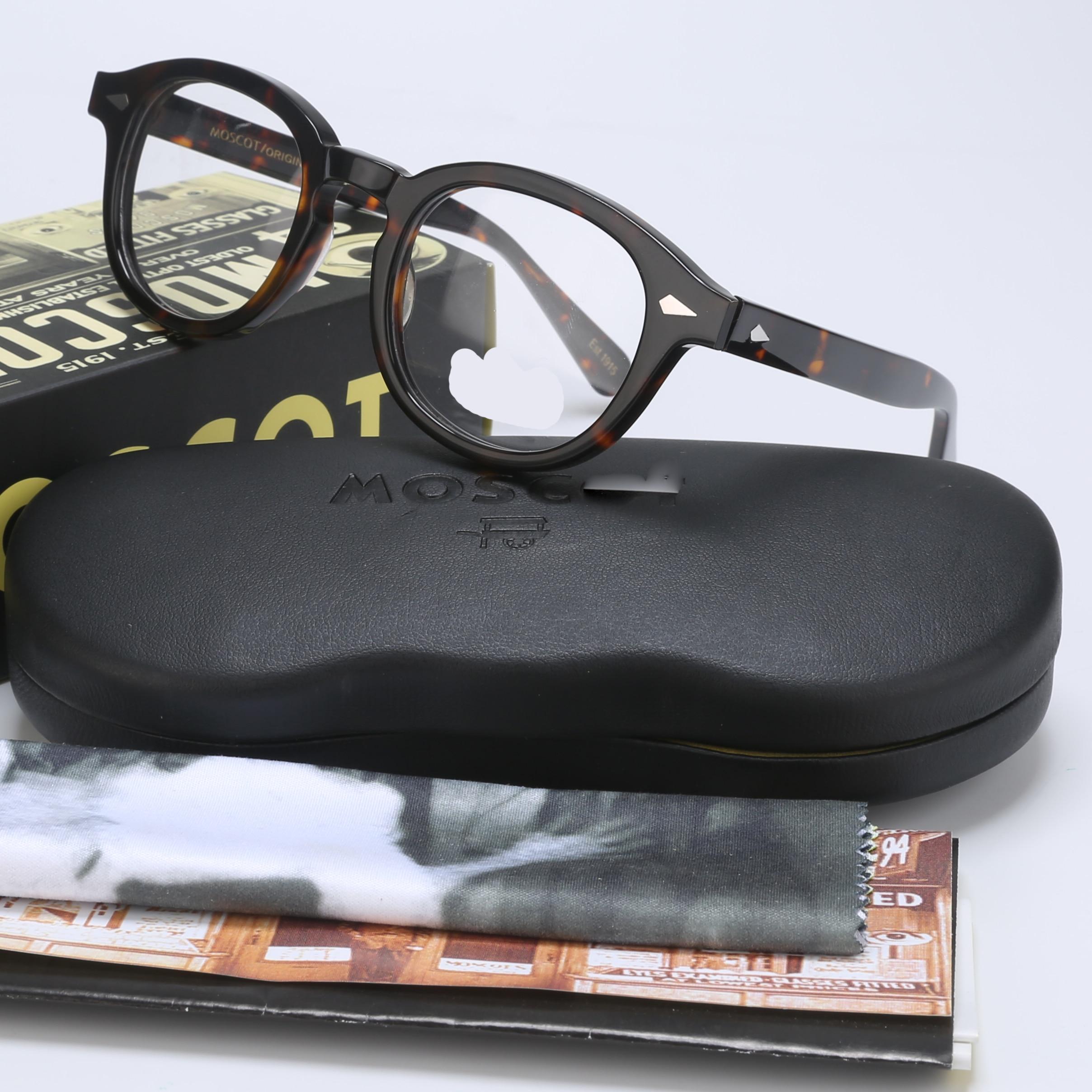 Johnny depp lemtosh óculos armação de homem mulher com caixa & caso computador óptico retro óculos óculos armação para masculino