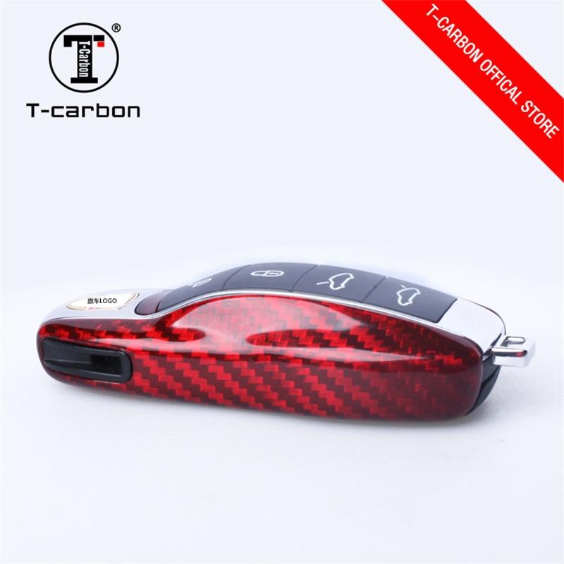 For Porsche Cayenne 911 Carbon Fiber Car Key Case Protection Intelligent Remote Control Key Finder Car Accessories for Girls enlarge