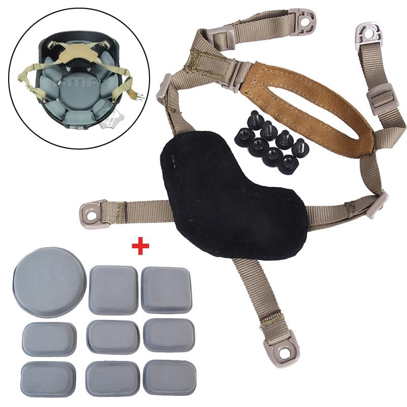 FMA универсальный шлем аксессуар защиты Подушки площадку с вообще подвеска Системы X-затылке для тактический Охота Пейнтбол