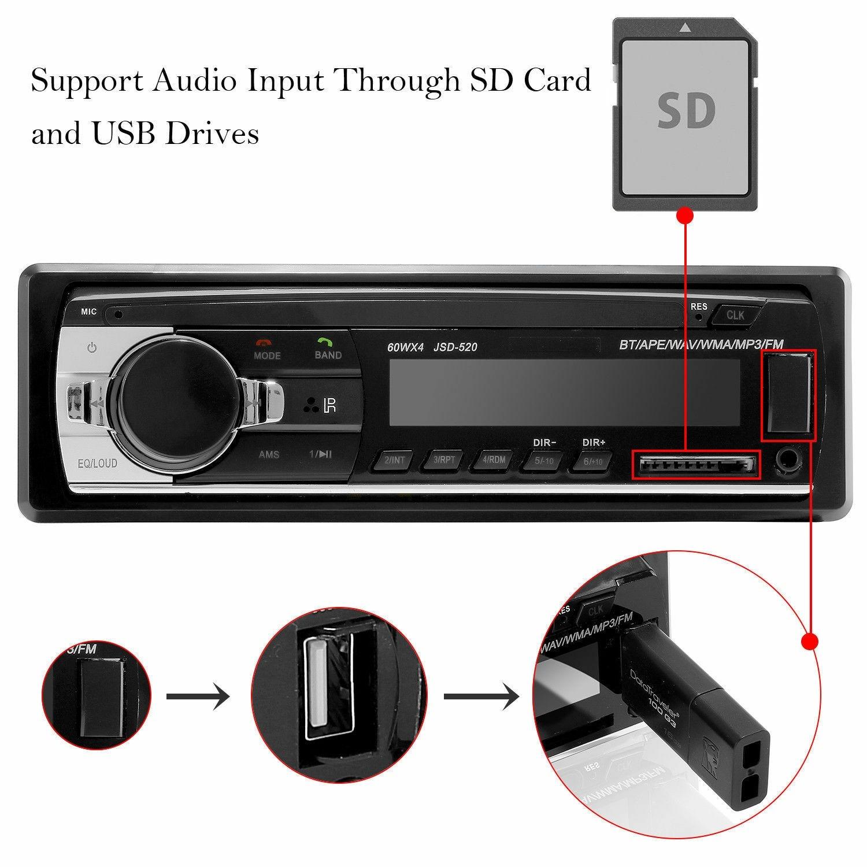 Автомобильный MP3 плеер Bluetooth гарнитура Черный стерео аудио хост плеер встроенный MP3/USB/SD/FM автомобильные аксессуары