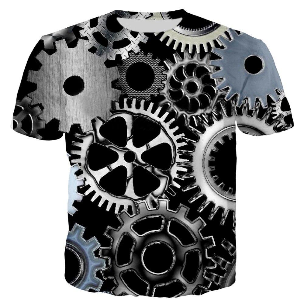Новинка, крутые мужские 3D футболки, машинная передача, топы с принтом, круглый вырез, летняя, короткий рукав, Повседневная футболка, машинная машина, футболки
