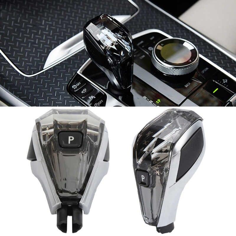 سيارة مقبض تروس الكريستال والزجاج مع بدء التبديل غطاء استبدال الكريستال والزجاج لسيارات BMW 3/4 سلسلة G22 X5 G05 X6 2021-الحاضر