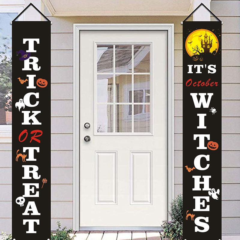 Украшение на Хэллоуин, баннер, украшение для семейвечерние, баннер, украшение для дома, знаки для Хэллоуина, баннер, флаг