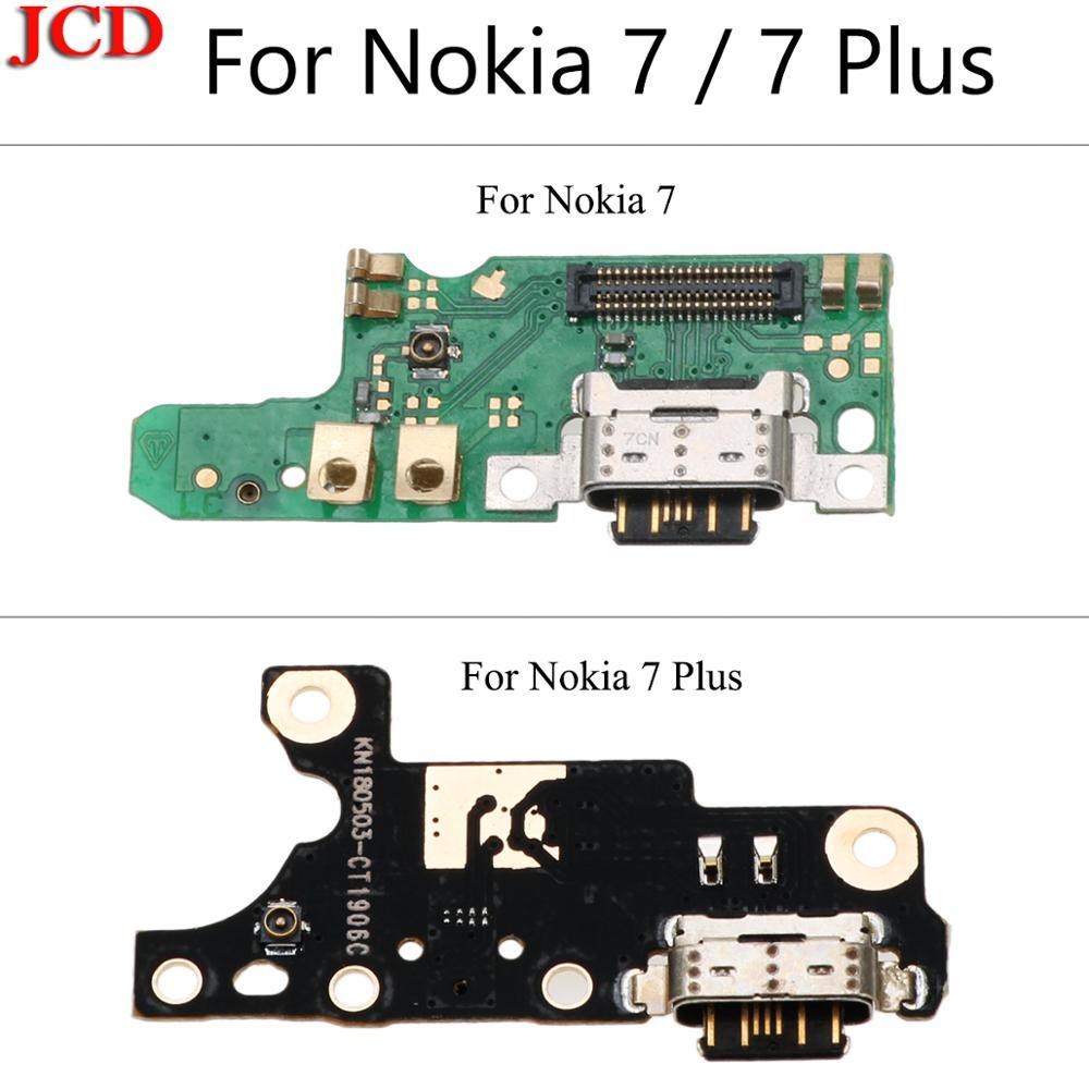 JCD nuevo para Nokia 7 más 7 + TA-1049 1055 USB 1062 conector de la base del puerto de carga de Flex parte del Cable para Nokia 7