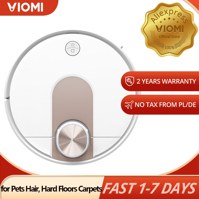 VIOMI Laser Navigation SE Robot Vacuum Cleaner Mopping, for Pets Hair, Hard Floors and Carpets Cleaning, Support Multi-language