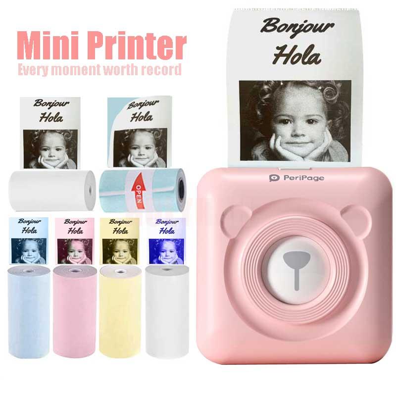 PeriPage Mini Portable Thermal Printer Pocket Photo Thermal Printer 58mm Label Sticker Machine Wireless Bluetooth Android IOS Pr