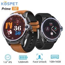 KOSPET Prime SE 4G montre intelligente téléphone 1.6 pouces 1260mAh batterie visage ID 1G RAM 16G ROM visage ID Android Smartwatch double caméra GPS