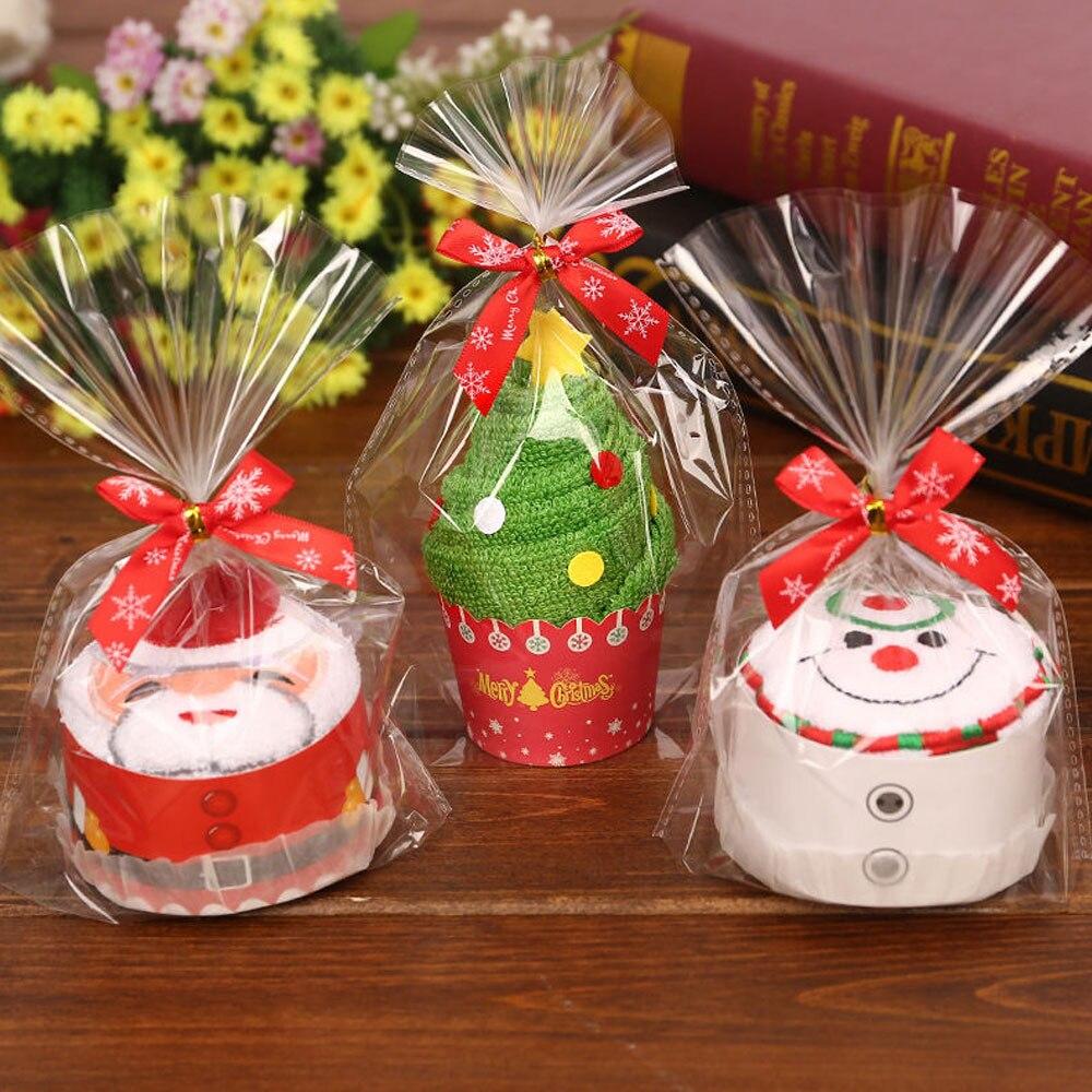 Рождественский подарок Хлопковое полотенце для кексов Новогоднее Рождественское украшение для детского сада подарок для детей мультяшное... недорого