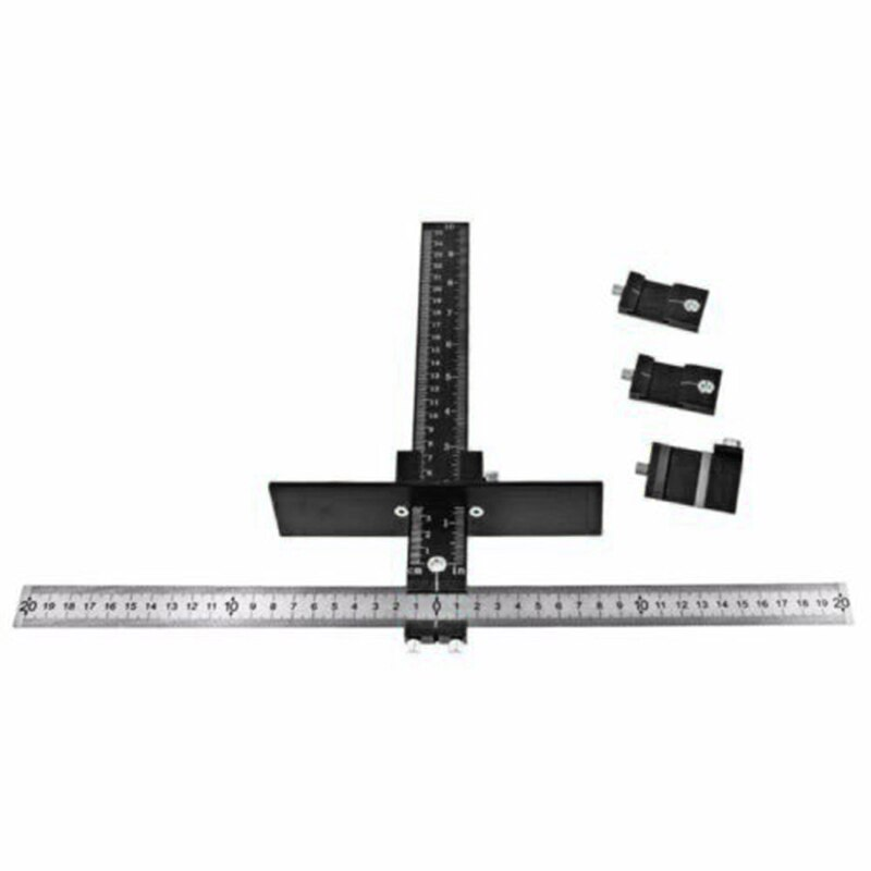 Adjust Adjustable Position Ruler Locator For Wood Woodworking Hand Tool Accessory Power Tool Accessories